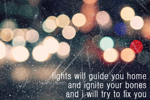 lights will guide you home :)