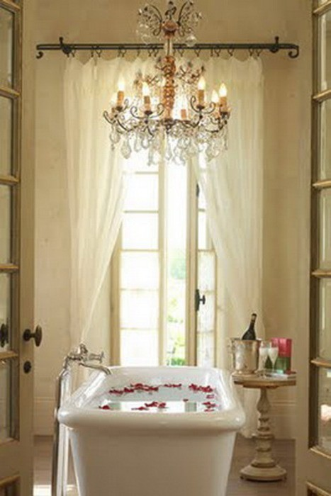 romantic french bathroom