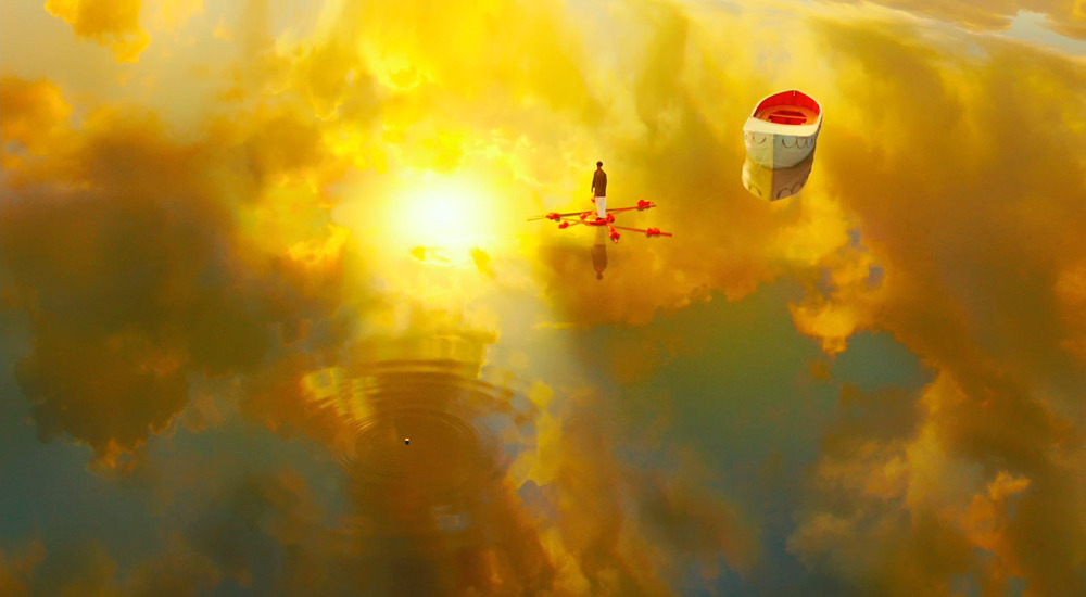 Beautiful shot from Ang Lee's Life of Pi, based on the novel about an Indian boy stuck in a life boat at sea with a tiger for over 200 days. From the official trailer: http://onfs.net/NS9VTd