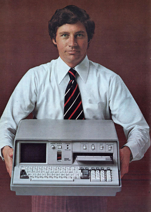 Back in 1975, engineers at IBM created the world's first commercial portable computer, the IBM 5100 Portable Computer. Super light (for its time), the computer weighed in at 55 lb and cost about $20,000!  From then…to now…times change!