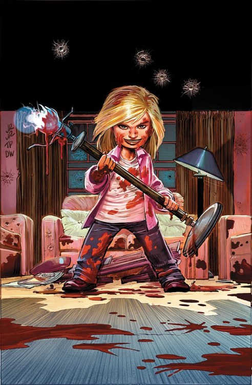 jesseescobar:  Hit-Girl #4 (of 5)MARK MILLAR • JOHN ROMITA JR.Variant Cover by GEOFF DARROWSketch Variant Cover by JOHN ROMITA JR & TOM PALMERMindy finally gets an ultimatum: No more Hit-Girl or else. But when danger lands on her doorstep, Hit-Girl may face her biggest challenge yet: not spilling blood on the living room carpet. Meanwhile, Red Mist lives out his Bruce Wayne fantasy abroad. A limited edition variant by Geof Darrow will be released for this issue.32 PGS./Mature …$2.99
