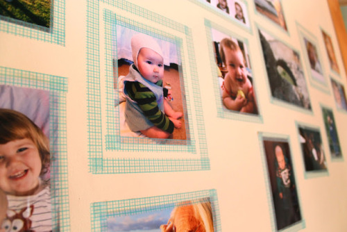 Washi Tape Wall Photo Frames via The Golden Adventures of a Very Dark Horse
