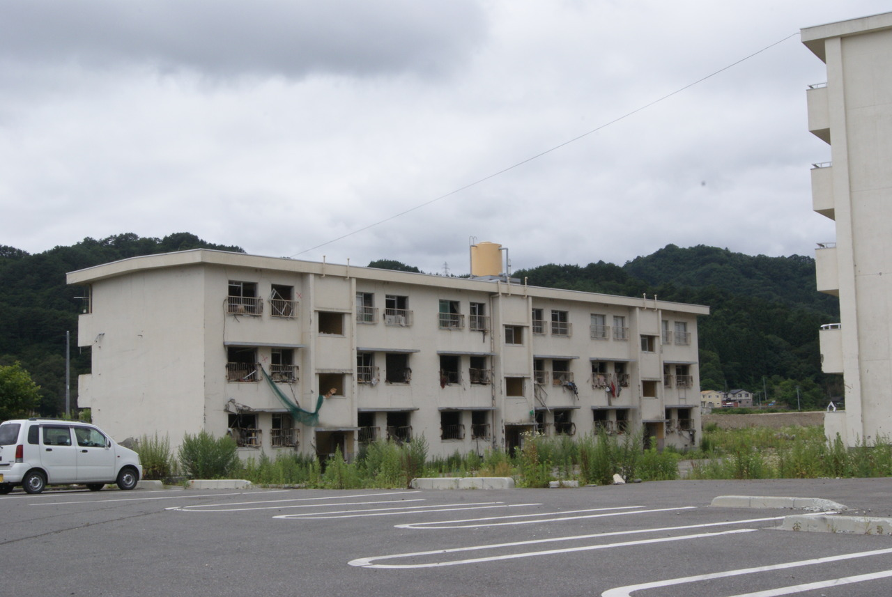 post-tsunami building in the city of Otsuchi, Japan