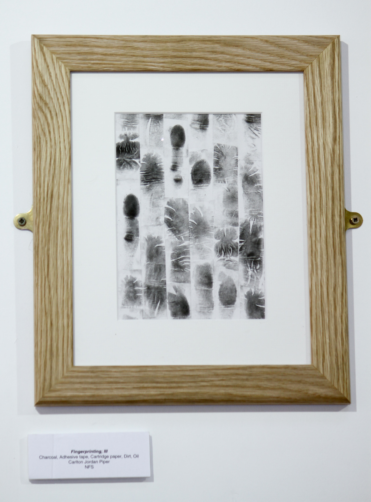 Installation view of Fingerprinting, III