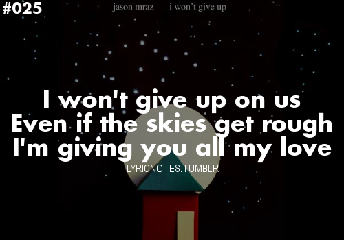 ©Jason Mraz 'I Won't Give Up' - 2012