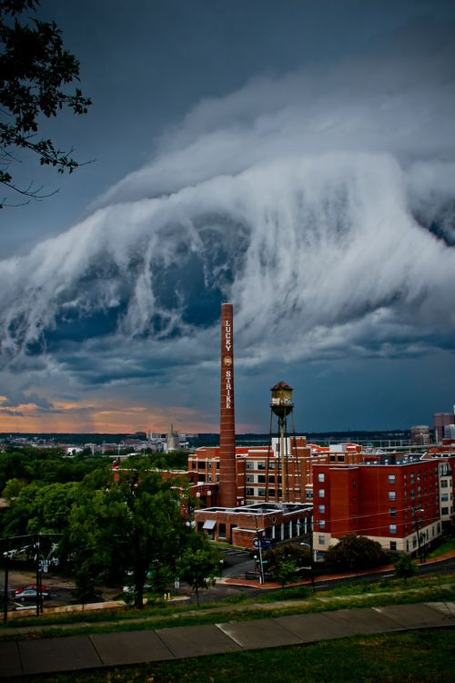 another view of the monster shelf cloud in Richmond, VA last night.  Quite an amazing example of weather.