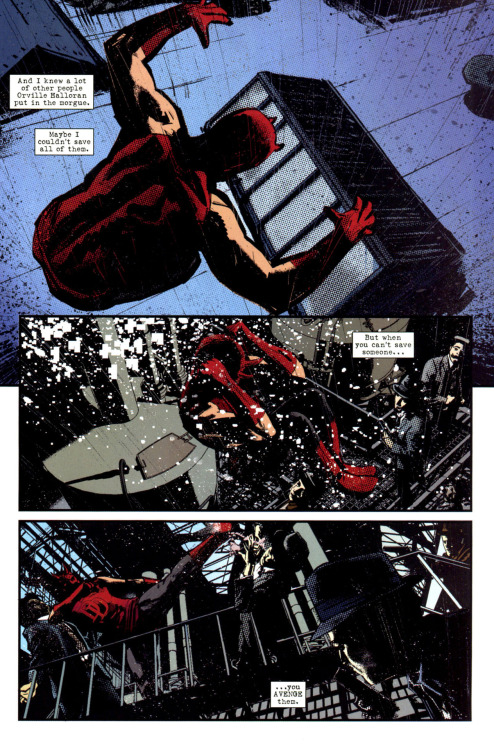 towritecomicsonherarms:  Daredevil noir #1   so good.