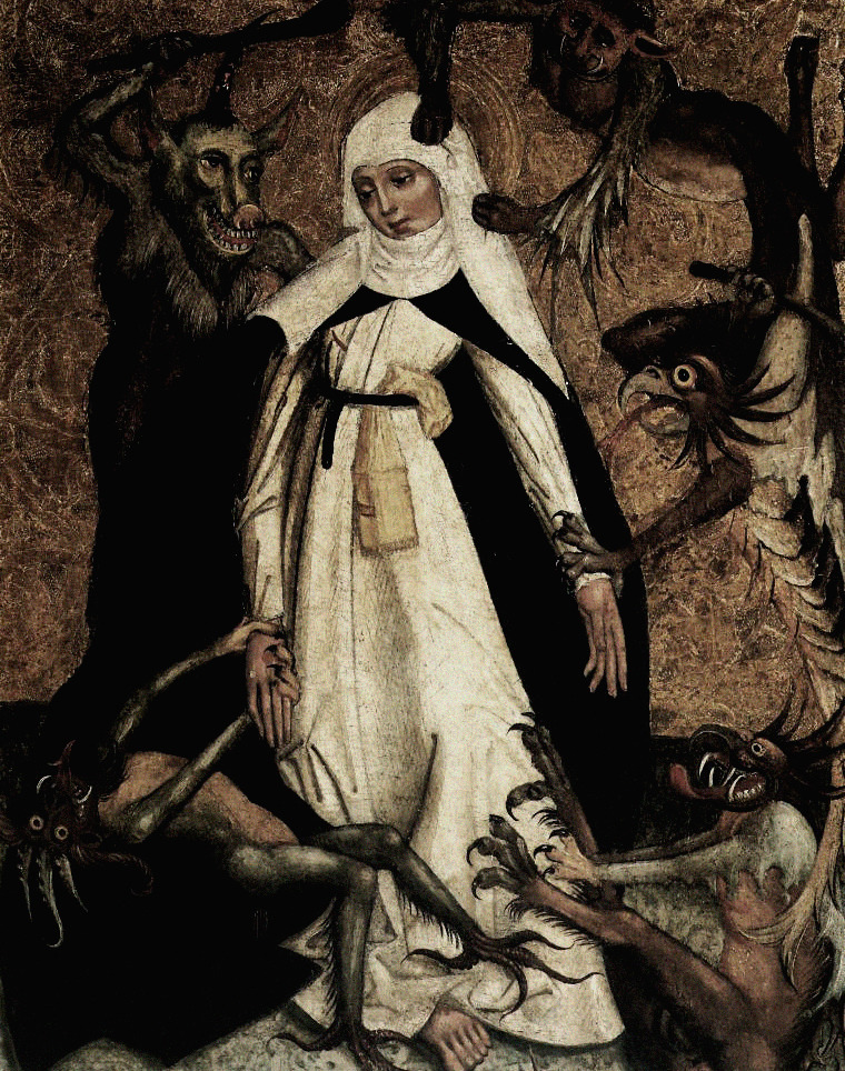 transylvanianmisanthropy:  St. Catherine of Siena besieged by demons