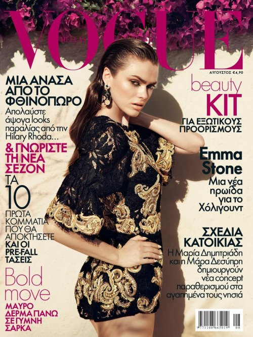 VOGUE GREECE AUGUST 2012  Sophie Vlaming in Dolce & Gabbana by Dimitris Skoulos