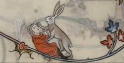 """where's my fuckin' carrot, doc?"" Summer volume of the Breviary of Renaud/Marguerite de Bar, Metz ca. 1302-1305. Verdun, Bibliothèque municipale, ms. 107, fol. 96v"