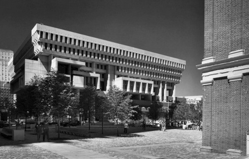 "The Decline of Brutalist Architecture For n+1 Thomas de Monchaux writes about the now-unpopular modernist architectural movement known as Brutalism.   Gerhard Kallmann's competition-winning design for Boston City Hall, developed in collaboration with Michael McKinnell, embodied a similar idea of heaviness poised above lightness. The building is a brooding, fortress-like mass of concrete resting on fins and columns rendered in concrete and brick. The brick was also used for a stepped podium and vast plaza that physically isolated the monumental building from its surroundings but materially connected it to the federal and colonial architecture nearby. From some angles, the building looks like a cement spaceship perched on more firmly terrestrial landing pads. From others, it looks like a ruin almost Roman in its complexity, with a thousand cutouts and panels and skylights and landings and lines that speak both to its designers' anxious virtuosity and their desire to produce something timeless. There is something deeply moving about seeing the words ""Boston City Hall"" incised over the uncompromisingly modern entry in lettering that would not be out of place on Trajan's Column.   Read the full article here. // Follow Read This, Not That on Tumblr / Facebook / Twitter //"