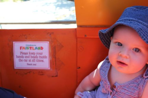 lennonaugust:  Aboard the Jolly Trolly at Children's Fairyland.  Oakland, California, US.
