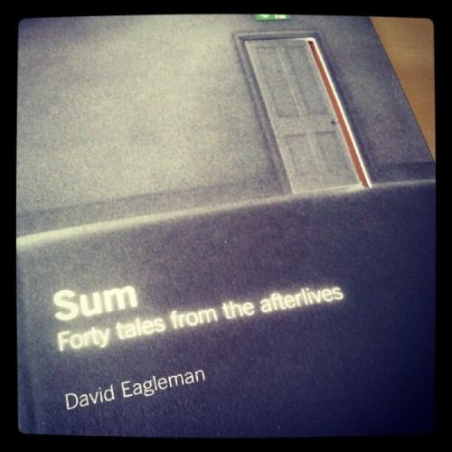 : just received a lovely little book 'Sum' - nice little details with the die cut cover (recommended by @willscobie ) (Taken with Instagram)