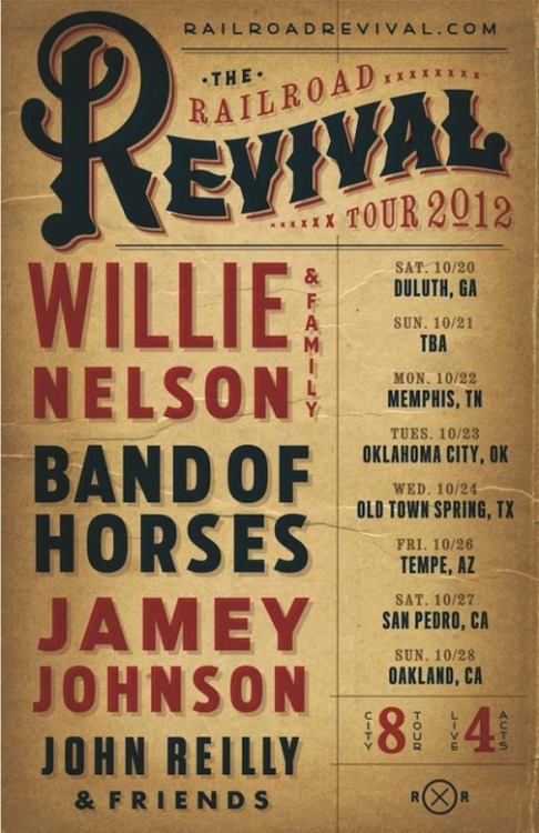 countryandwestern:  Railroad Revival Tour announces lineup, stops & dates. Tix on sale Friday 7/27.