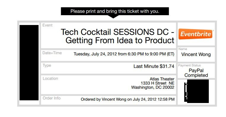 Attended last night's Tech Cocktail Session (July 2012)