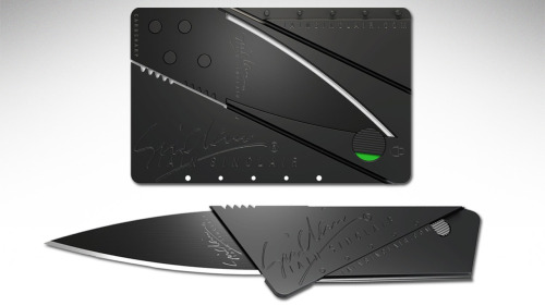 whereisthecoool:  Card Sharp 2  Somebody lied! I got a knife in my card!