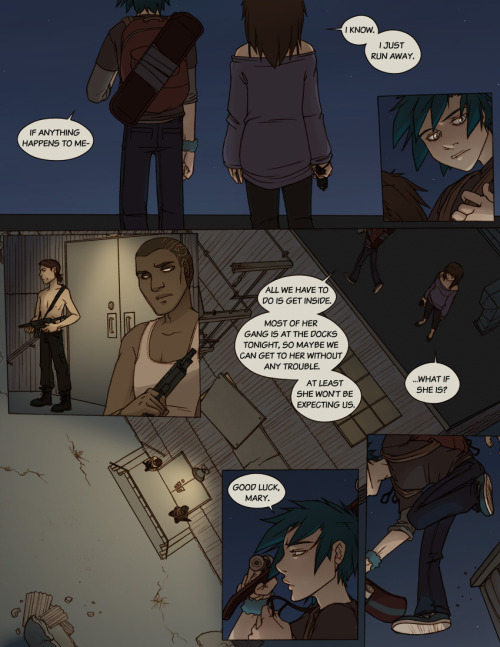 FindChaos: Cross - Page 4 is up, and getting right into the thick of things! But what will happen next?