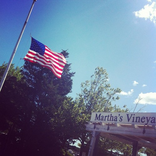 still at half-mast for #Aurora (Taken with Instagram at Martha's Vineyard Airport (MVY))