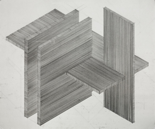 "mattniebuhrdrawings:  untitled (axon study)2012_07_17graphite on paper11"" x 14"" (27.9 x 35.6)cmMatt Niebuhrwww.mattniebuhr.com additional work sampled / available here: .shop.mattniebuhr.com"