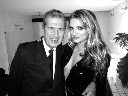 labellefabuleuse:  Lily Donaldson and Mario Testino photographed by Derek Blasberg at the opening of the Mario Testino Foundation in Peru, July 2012
