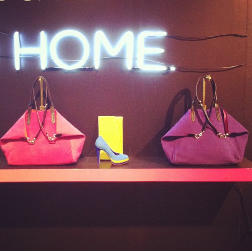 Neon bags, heels, and clutches at Cole Haan for fall Photographed by Naomi Nevitt