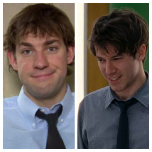 Jim Halpert….Jim Harper.. Both in love with a whimsical girl in the office they can't have…both witty and slightly clumsy…both can NEVER button the top button of their shirt…c'mon Sorkin…