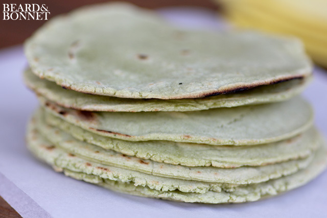 findvegan:  cilantro-infused homemade tortillas