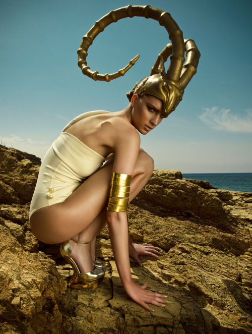 "Rosanna Georgiou in ""Greek Pride"" Photographed by Thanassia Krikis & Styled by Michael Pandos for Vogue Hellas, July 2012"
