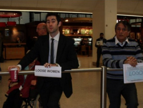 collegehumor:  Guy Goes to Airport to Pick up Loose Women Also looking for people who need to make a connection.