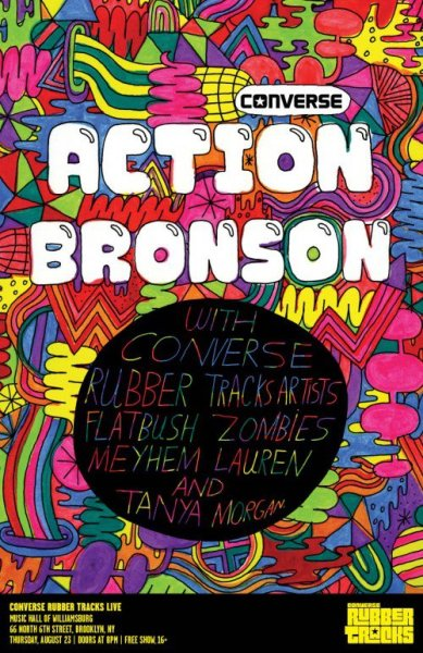 Mark it on your calendars folks: August 23rd, Action Bronson, Flatbush Zombies live at the Music Hall of Williamsburg. Free admission, first come fist serve.