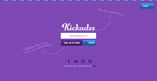 Kickadss is an exciting new ad network that makes buying and selling ad space incredibly easy.  With only three easy steps you can buy and upload an ad, without leaving the publisher's website. Sign up here