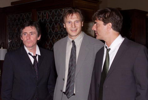 Gabriel Byrne, Liam Neeson, and Chris Noth at the Irish Arts Center's Annual Gala at the New York Athletic Club in New York City.
