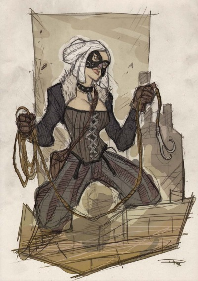 Black Cat Steampunk Re-Design by Denis Medri