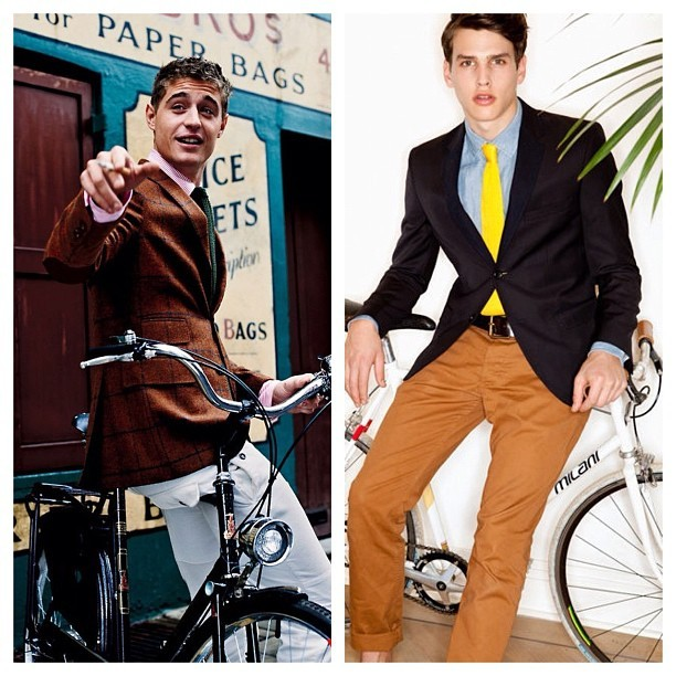coolintheheat:  Andar de bicicleta nunca foi tão elegante. #menswear #mensfashion #menstyle #style #fashion #urban #sartorial #instafashion #instastyle #cool #bicycle #bike (Publicado com o Instagram)