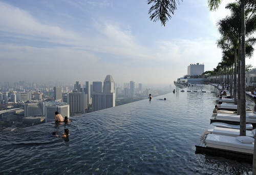 thekhooll:  To Infinity and Beyond Top of the Marina Bay Sands in Singapore.