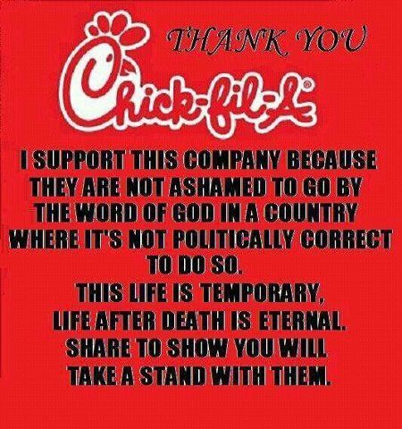 I keep seeing this in my fb feed. I wonder if there is chick-fil-a in heaven? ? I am not against an organization bc they are religious I am against them if they are for a cause that defrades a class of citizens.  We are all humans. Same flesh. Same bone. Why is there so much hate?? I guess this is why I am a humanist. ;) #happyheathen