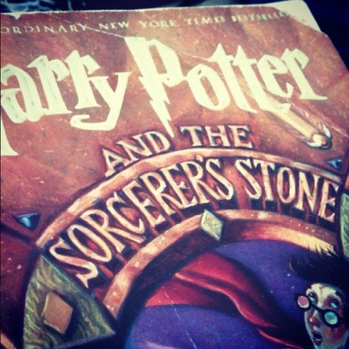 Sorcerer's Stone is @theknittingnerd 's favorite Potter book. What's yours? #summerofmagic (Taken with Instagram)