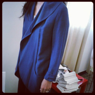 Rebekkah Deconstructed Blazer, available online NOW! It's pre-fall y'all. (Taken with Instagram)