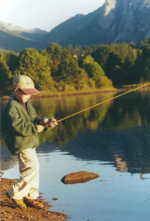 patagonia:  Will Spiro fishing in a classic Snap-T