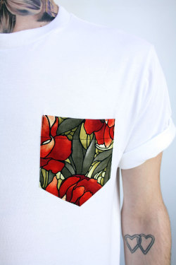 coolkidnextdoor:  MKI FLORAL POCKET TEE