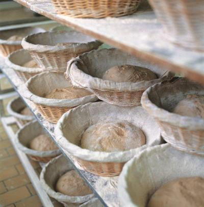 Our daily loaves of Organic Sourdough Whole Wheat rise slowly in their banneton (linen-lined baskets).  Our baker's patience is rewarded with a complex and flavorful loaf to serve with your favorite Le Pain Quotidien tartine, salad or soup.