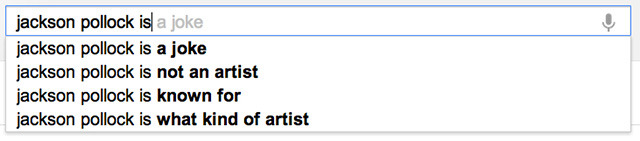 "hyperallergic:  Let's Play Google Art Critic!  My favorite is ""shepard fairey is a douche"""