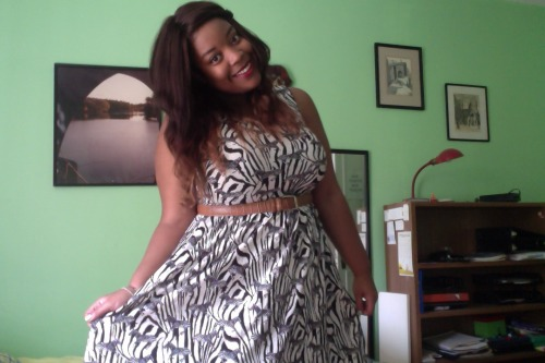 US 16 Dress from H&M, belt is my dads  =)