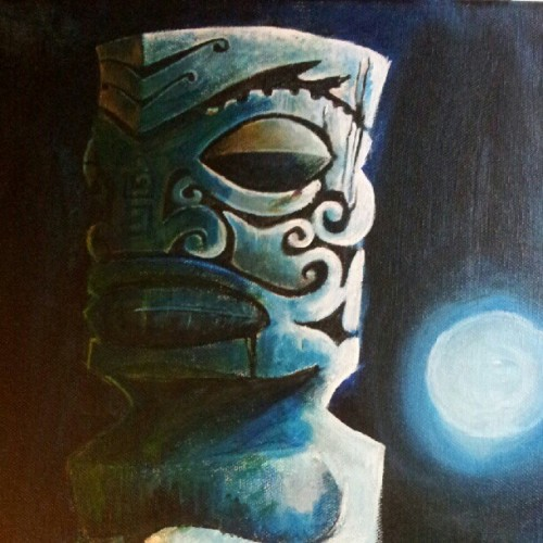 New #painting in progress. #tiki #art #lobrow (Taken with Instagram)