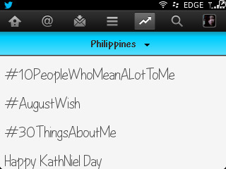 Happy KathNiel Day! As of 1:20 am. :)