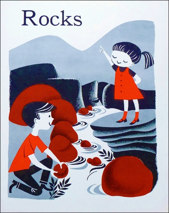 Rocks 1960s teaching aid/cards