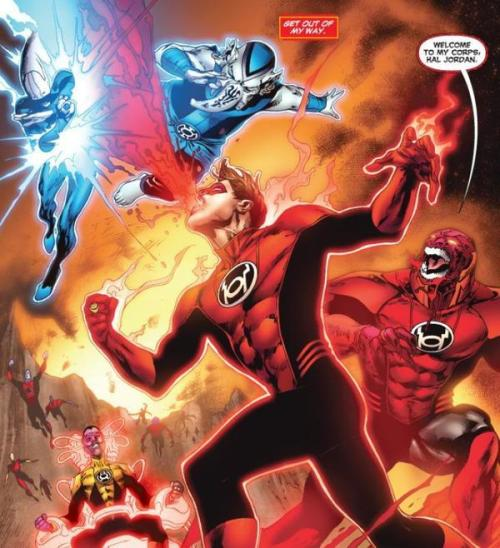 whovianfilmsinc:  Red Lantern Hal Jordan  Shawn writes: The blood is from a lack of flossing.