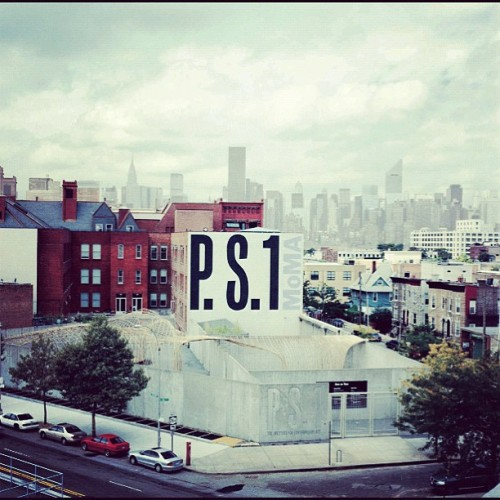 P.S.1 Contemporary Art Center is housed in a gigantic former public school building only 10min by subway from Manhattan