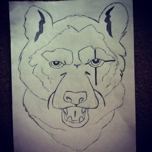 Sometimes I like to draw bears… (Taken with Instagram)