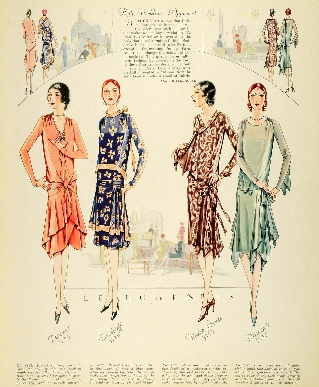 illustratedladies:  myvintagevogue:  McCall's 1928